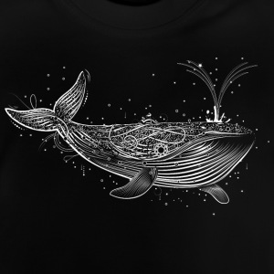 white whale in the ocean Shirts - Baby T-Shirt