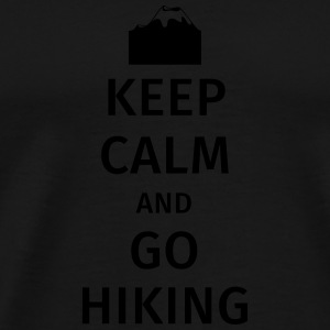 Keep Calm and Go Hiking Bouteilles et Tasses - T-shirt Premium Homme