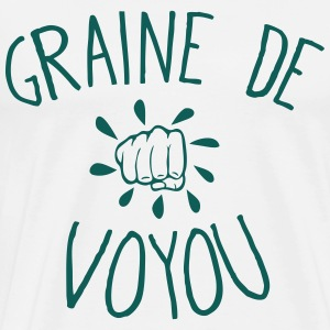 graine de voyon citation poing fermer Tabliers - T-shirt Premium Homme