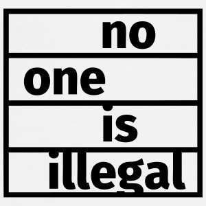 No One is Illegal Bouteilles et Tasses - T-shirt Premium Homme