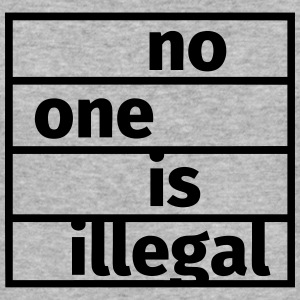No One is Illegal Sweat-shirts - Tee shirt près du corps Homme