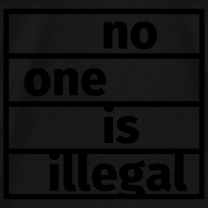 No One is Illegal Sweaters - Mannen Premium T-shirt