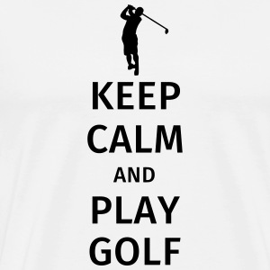 Keep Calm and Play Golf Muggar & tillbehör - Premium-T-shirt herr