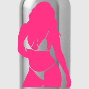 Girl sexy pretty woman silhouette T-Shirts - Water Bottle
