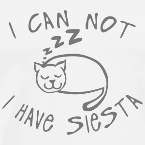 i_can_not_have_siesta Cat sleep quote  Aprons - Men's Premium T-Shirt