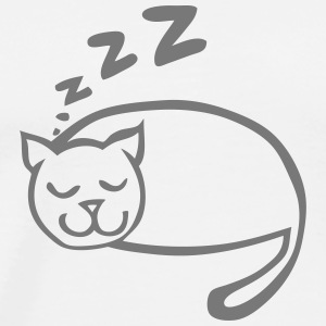 Cat sleeping drawing zzz Tops - Men's Premium T-Shirt