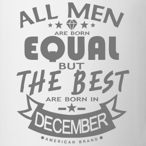 december men equal best born month logo  Aprons - Mug