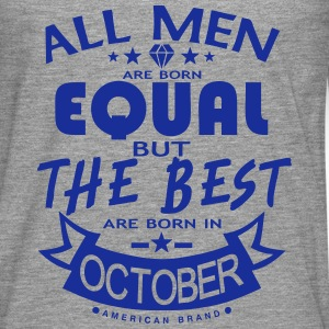october men equal best born month logo Hoodies & Sweatshirts - Men's Premium Longsleeve Shirt