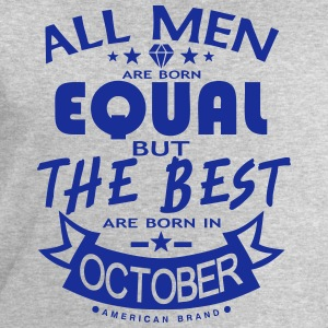 october men equal best born month logo Sports wear - Men's Sweatshirt by Stanley & Stella