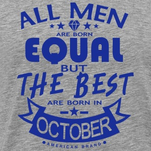 october men equal best born month logo Sports wear - Men's Premium T-Shirt