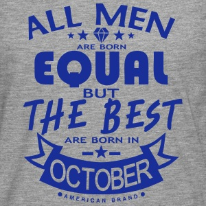 october men equal best born month logo Sports wear - Men's Premium Longsleeve Shirt