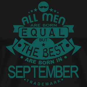 september men equal best born month logo  Aprons - Men's Premium T-Shirt