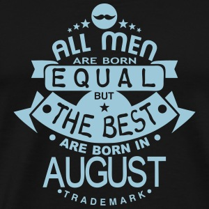 august men equal best born month logo Maglie a manica lunga - Maglietta Premium da uomo