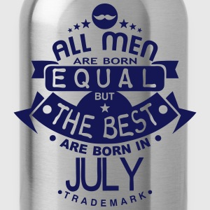 july men equal best born month logo T-Shirts - Water Bottle