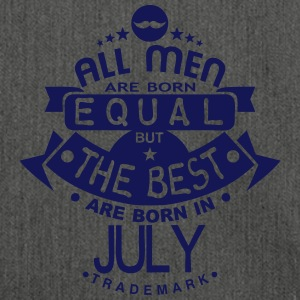 july men equal best born month logo T-Shirts - Shoulder Bag made from recycled material
