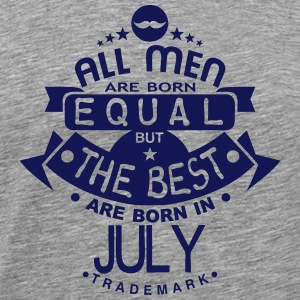 july men equal best born month logo Long sleeve shirts - Men's Premium T-Shirt