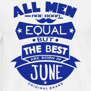 june men equal best born month logo  Aprons - Men's Premium T-Shirt