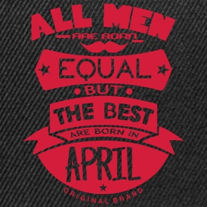 april men equal best born month logo T-Shirts - Snapback Cap
