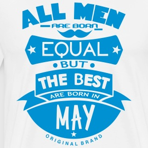 may men equal best born month logo  Aprons - Men's Premium T-Shirt