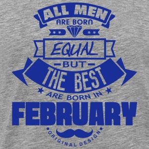 february men equal best born month logo Sports wear - Men's Premium T-Shirt