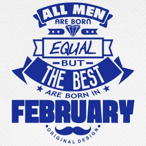 february men equal best born month logo  Aprons - Baseball Cap