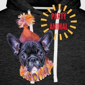 French Bulldog Party T-Shirts - Men's Premium Hoodie
