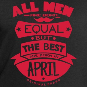 april men equal best born month logo Sports wear - Men's Sweatshirt by Stanley & Stella