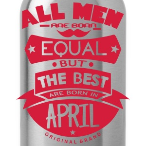 april men equal best born month logo Sports wear - Water Bottle