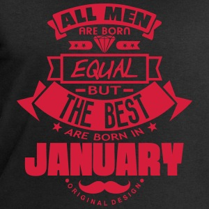 january men equal best born month logo T-Shirts - Men's Sweatshirt by Stanley & Stella