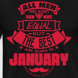 january men equal best born month logo  Aprons - Men's Premium T-Shirt