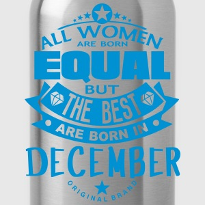 december women equal best born month Long Sleeve Shirts - Water Bottle