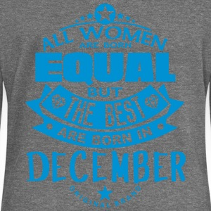 december women equal best born month Tops - Women's Boat Neck Long Sleeve Top