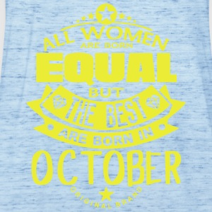 october women equal best born month logo T-Shirts - Women's Tank Top by Bella