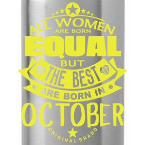 october women equal best born month logo T-Shirts - Water Bottle