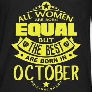 october women equal best born month logo T-Shirts - Men's Premium Longsleeve Shirt
