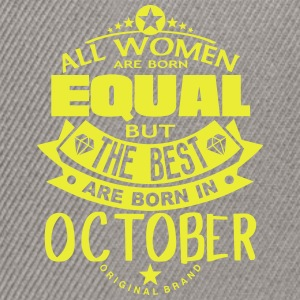 october women equal best born month logo T-Shirts - Snapback Cap