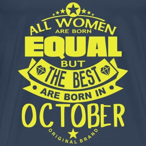 october women equal best born month logo Tops - Men's Premium T-Shirt