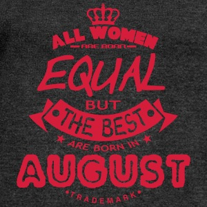 august women equal best born month logo T-Shirts - Women's Boat Neck Long Sleeve Top