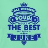 june women equal best born month logo T-Shirts - Women's T-Shirt