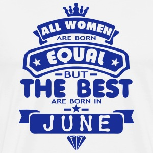 june women equal best born month logo  Aprons - Men's Premium T-Shirt