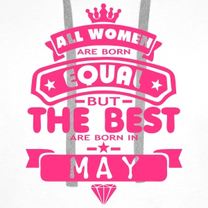 may women equal best born month logo T-Shirts - Männer Premium Hoodie