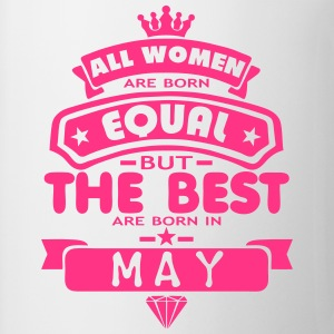 may women equal best born month logo T-Shirts - Mug