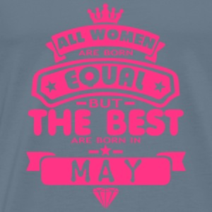may women equal best born month logo Tops - Men's Premium T-Shirt