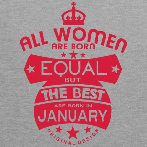 january women equal best born month logo Camisetas - Sudadera con capucha en contraste