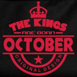 october kings born birth month crown T-Shirts - Kids' Backpack