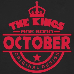october kings born birth month crown T-Shirts - Men's Premium Longsleeve Shirt