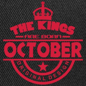 october kings born birth month crown T-Shirts - Snapback Cap