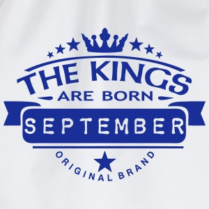 september kings born birth month crown  Maglie a manica lunga - Sacca sportiva