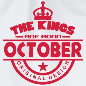 october kings born birth month crown Grembiuli - Sacca sportiva