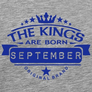 september kings born birth month crown  Sports wear - Men's Premium T-Shirt
